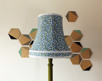 Bluebell print handmade lampshade- Large lampshade- Duplex fitting - Blue floral lampshade- Wild flowers - Home decor