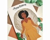 Black Greeting Card Arlene