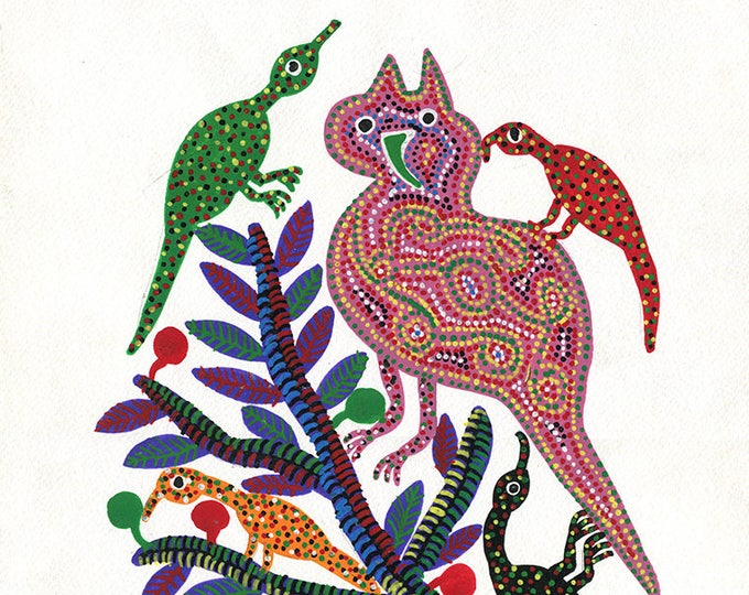 Owl,Gond Artwork, Original Acrylic.