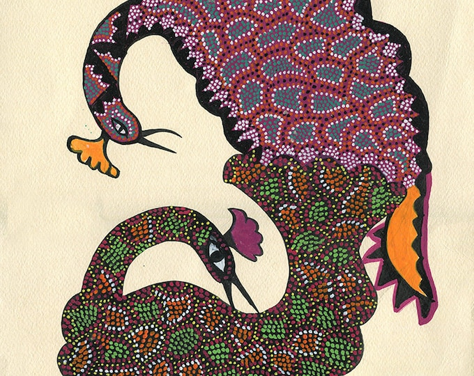 Peacocks, Gond Artwork, Original Acrylic.