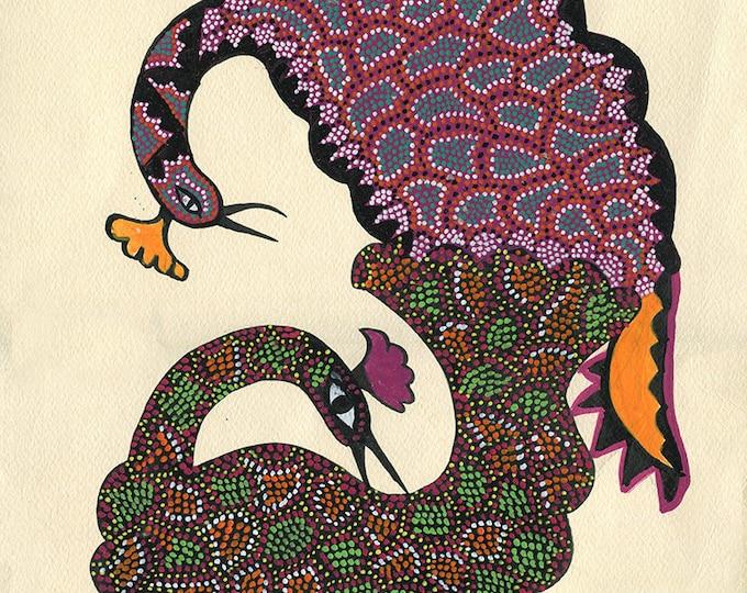 Peacocks, Gond Artwork, Original Acrylic.
