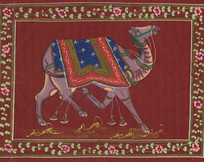 Camel Red Fabric, Art of Jaipur, Mixed Media