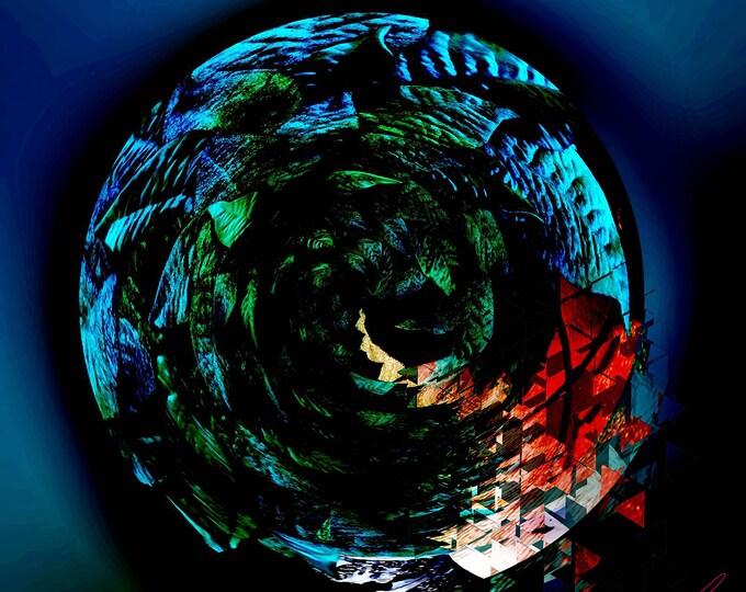 Earth, Photographic artwork on metal, Metal Artwork, American Artworks