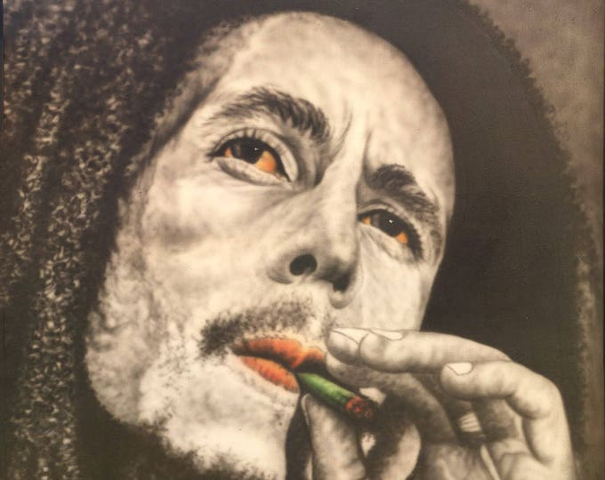 Bob Marley – The King of Reggae, Indonesian Artwork, Streatched Canvas Giclee of Traditional Oil on Canvas Balinese Painting; Ready to Hang!