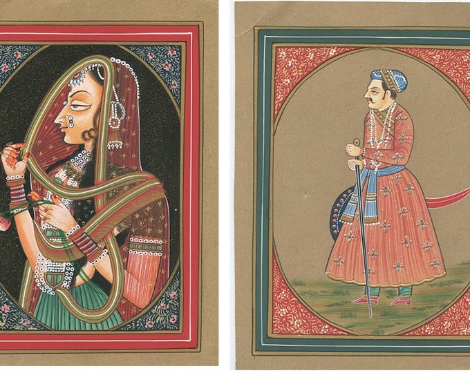 An Emperor's Tail (Set of 2), Art of Rajasthan, Mixed Media