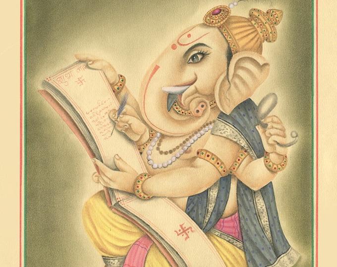Elephant God, Art of Jaipur, Mix Media