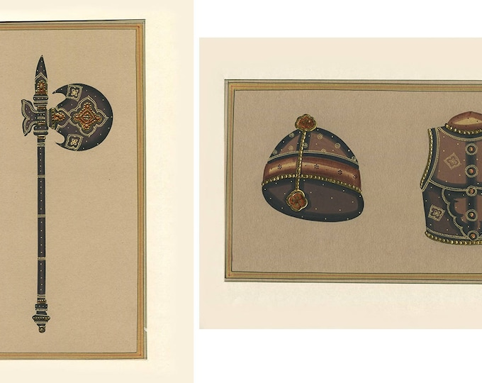 Battle Attire (Set of 2), Art of Rajasthan, Mixed Media