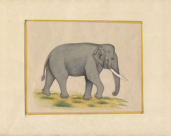 Walking Elephant, Art of Jaipur, Mixed Media