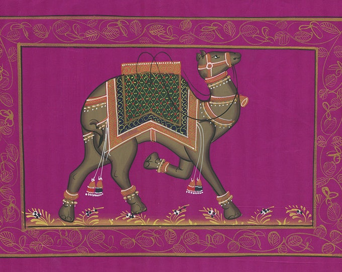 Purple Fabric Camel, Art of Jaipur, Mixed Media