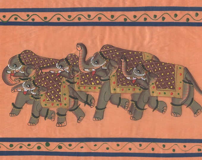 Herd of Elephants, Art of Jaipur, Mixed Media