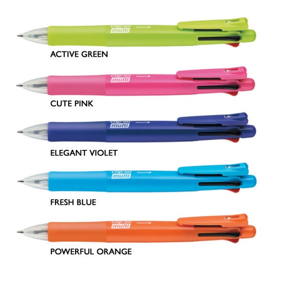 Zebra B4SA-1 Clip-on multi 0.7mm Multifunctional Pen Black//Blue//Red//Green Refills 8 Total Value Set White Body /& 4 Color