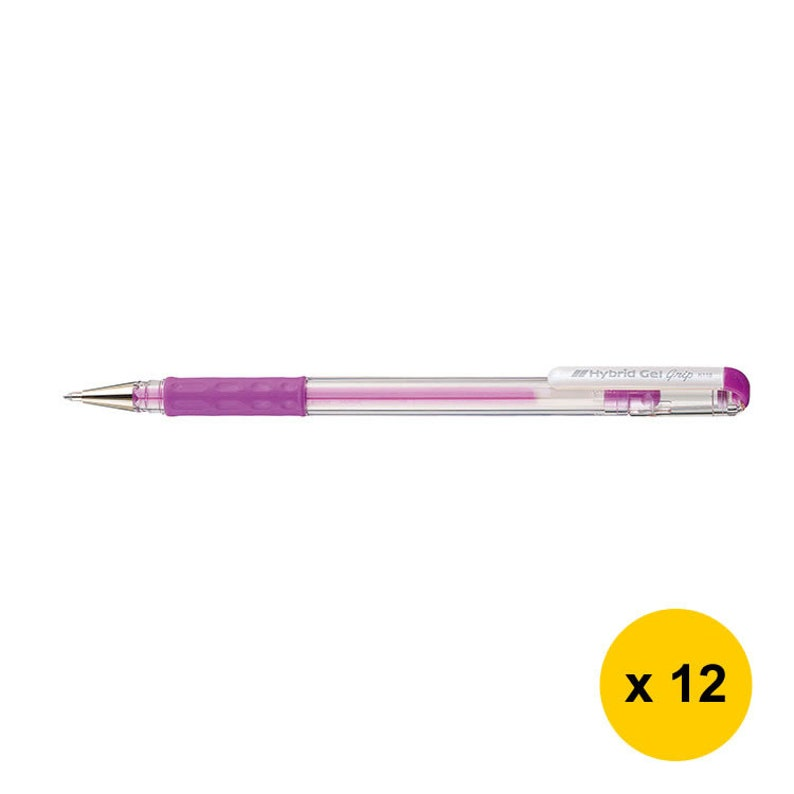 12pcs Set Pastel Violet Pentel Hybrid Gel Grip K118L 0.8mm Pastel Gel Roller Pens
