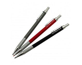 3pcs Full Set - Uni FiELD M20-700 2H/HB/Red 2.0 mm Mechanical Drafting Pencils