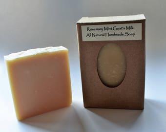 Rosemary Mint Goat's Milk All Natural Handmade Soap