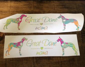 Great Dane Mama Decal