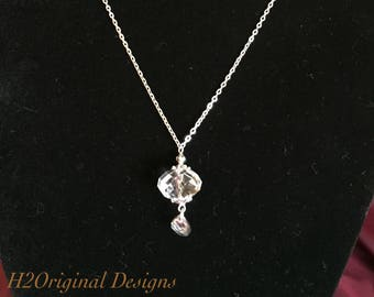 Crystal Pendant Necklace and Earring Set