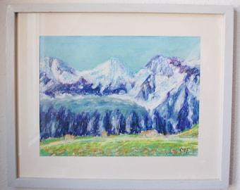 Swiss mountains glaciers Eiger, Mönch and Jungfrau III - Switzerland art