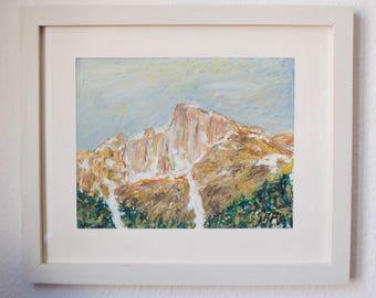 Swiss mountains and glaciers - Switzerland art
