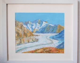 Swiss glacier Aletsch - Switzerland art