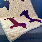 Crochet Corner To Corner (C2C) Dachshund Dog Blanket Pattern 3 sizes