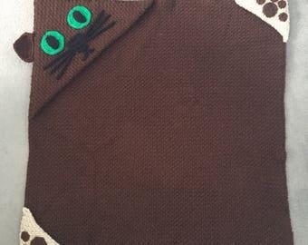 Hooded Cat Crochet Blanket Pattern