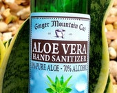 All Natural Hand Sanitizer Spray Isopropyl Alcohol Natural Aloe Vera Only FDA Registered Facility. No Stinky Ethanol Unscented Spray.