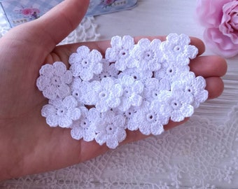7610ed28d5a17 Crocheted flowers   Etsy