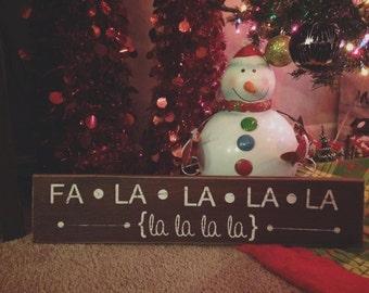 Jingle Bells 'Fa La La La La' Sign
