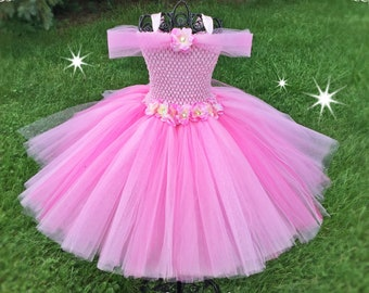 3df6409c0 SUGAR PLUM FAIRY Inspired Princess Gown for Girls, Dressup Dress & Flower  Girl for Disney Wedding Tutu Costume, Easter, Baby Pink, Flowers