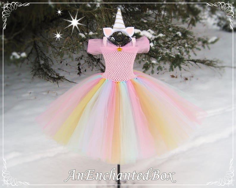 9b3110c0fa808 UNICORN RAINBOW Princess Gown for Girls Dressup Dress, Flower Girl, Tutu  Costume, My Little Pony, Pastels, Sherbet, Easter, Birthday Party