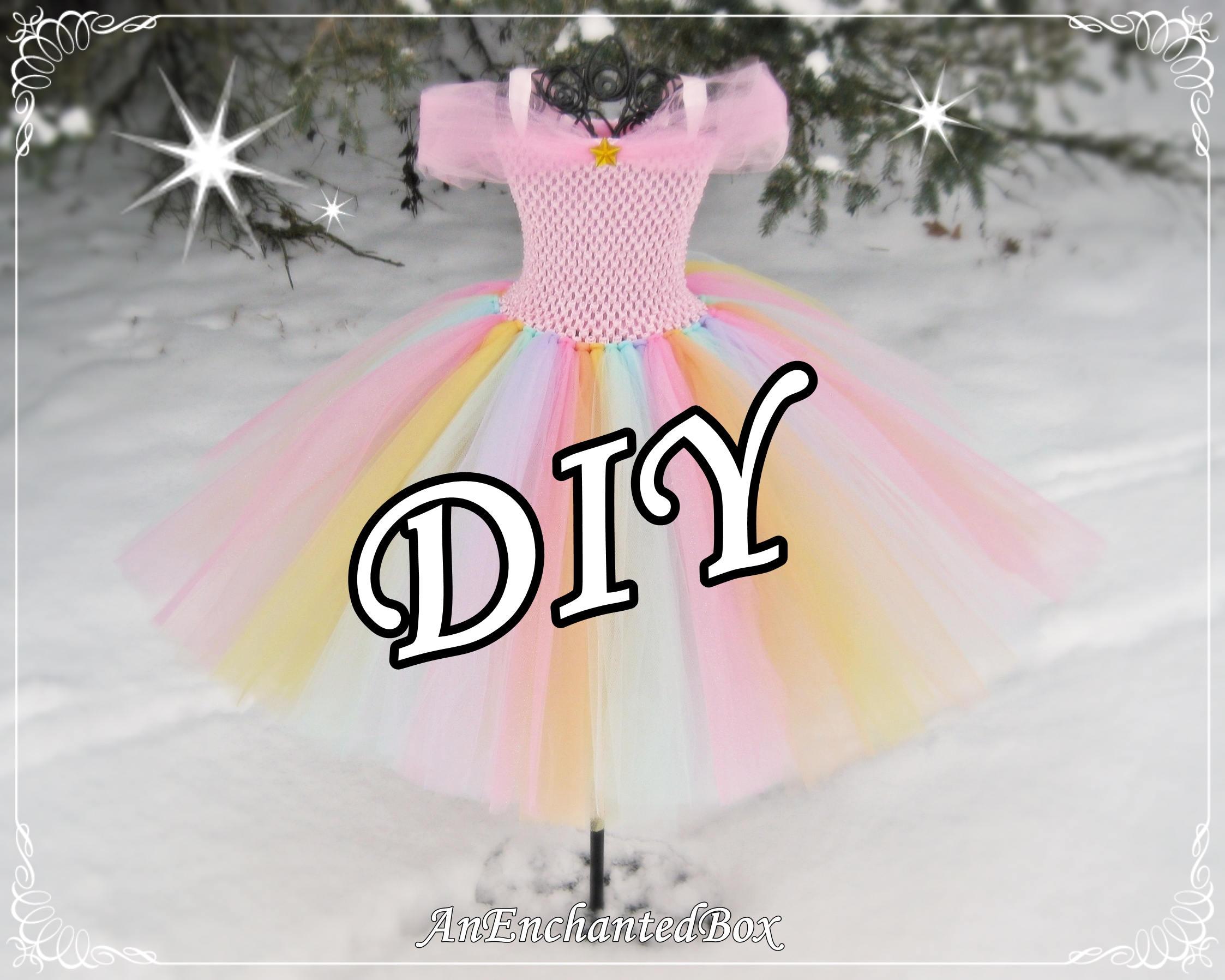 b8e21a083 DIY UNICORN RAINBOW Princess Dress Kit for Girls Dressup Gown | Etsy