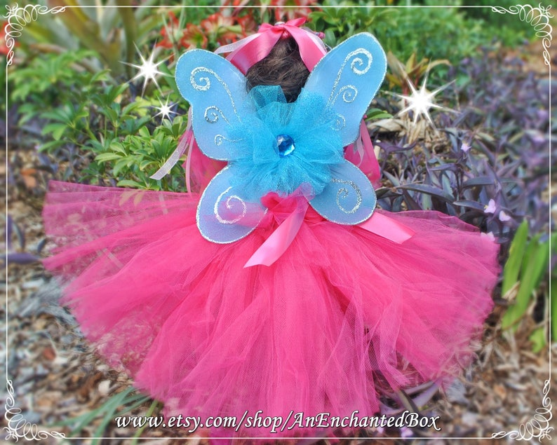 READY to SHIP BLUE and Silver Inspired Princess Doll Fairy Wings for 18 American Girl /& 15 Bitty Doll Disney Wedding Dressup Dress Up