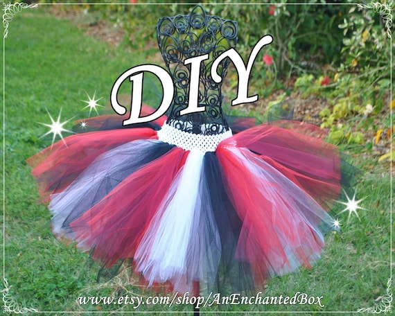 Diy Pirate Tutu Skirt Kit In Black Red White For Girls Teens Teenagers Dressup Gown Tutu Costume Full Skirt For Do It Yourself