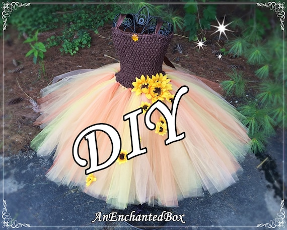 Dressup Gown Flower Girl October Fall Wedding Tutu Costume Autumn Farm DIY IRIDESSA SUNFLOWER Fairy Inspired Princess Dress Kit for Girls