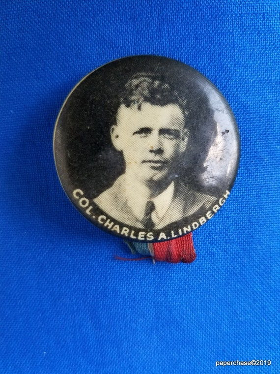 Charles A Lindbergh Pin,  American Aviator, Author
