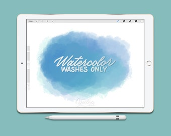 Procreate Brush : Watercolor Wash Brushes Only