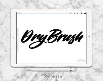 Procreate Brush, Dry Brush