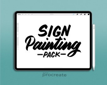 Procreate Brush : Sign Painting Pack