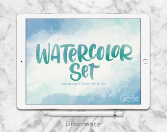 Procreate Brush Watercolor Set