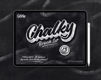 NEW Procreate Brush Set: Chalky Brush Set