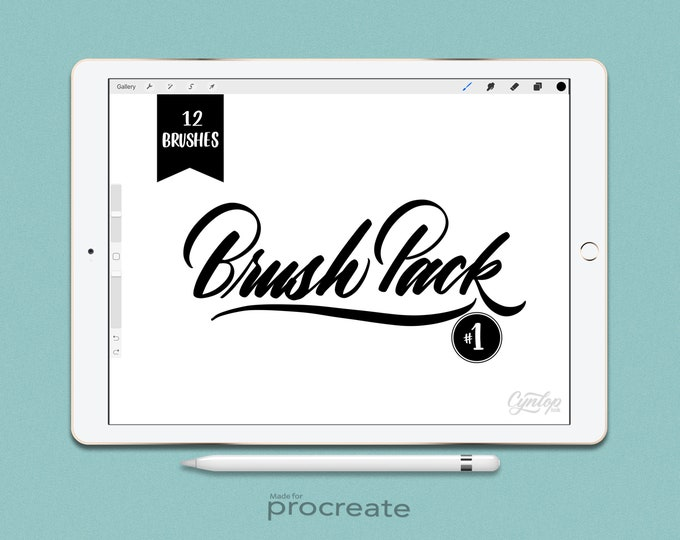 Featured listing image: Procreate Brush Pack : #1  12 Brushes Set