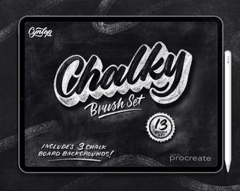 Procreate Brush Set: Chalky Brush Set