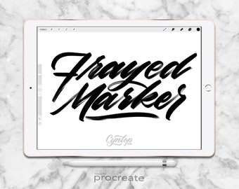 Procreate Brush: Frayed Marker Brush