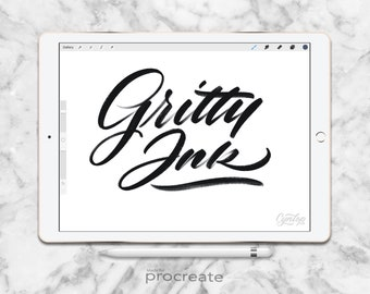Procreate Brush : Gritty Ink Brush