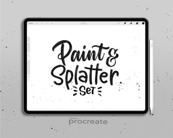 Procreate Brush Pack : Paint & Splatter Set