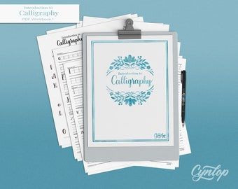 Introduction to  Calligraphy Workbook 1 Printable PDF