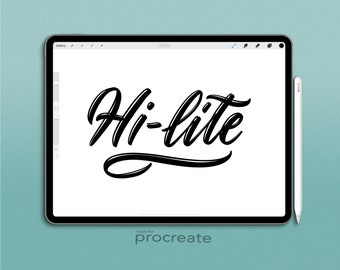 Custom Procreate Brush:  Hi-lite