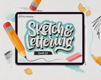Procreate Sketch & Lettering Pencil Brush Set