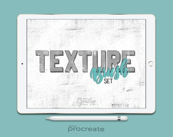 Procreate Texture Brushes  Set, 40 Textures Procreate Brush, 2 shading brushes, Procreate Brushes, iPad lettering