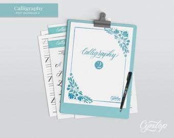 New! Calligraphy Workbook 2 Printable PDF